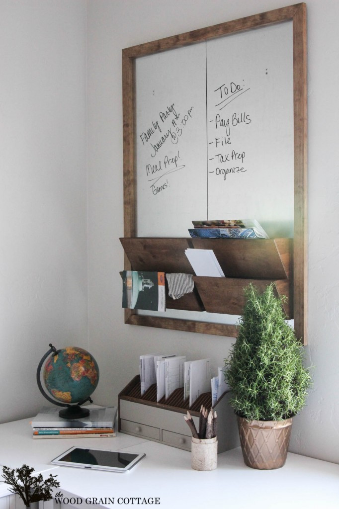 Best ideas about DIY Office Organizers . Save or Pin Diy fice Wall Organizer Message Center Tutorial Fox Now.