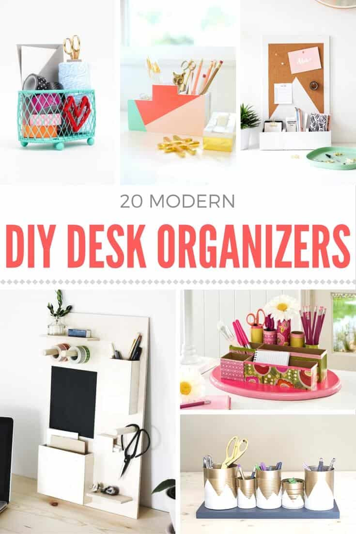 Best ideas about DIY Office Organizers . Save or Pin How to make a DIY desk organizer Mod Podge Rocks Now.