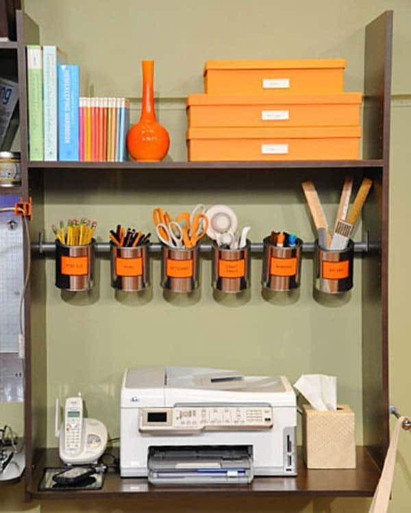 Best ideas about DIY Office Organizers . Save or Pin 15 Awesome DIY Ways to Organize Your fice Part 1 Now.