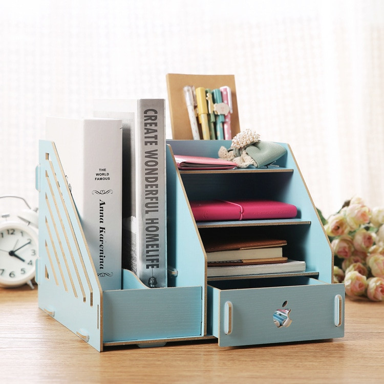 Best ideas about DIY Office Organizers . Save or Pin Fashion Candy Color fice Desk Organizer Wood Cabinet DIY Now.
