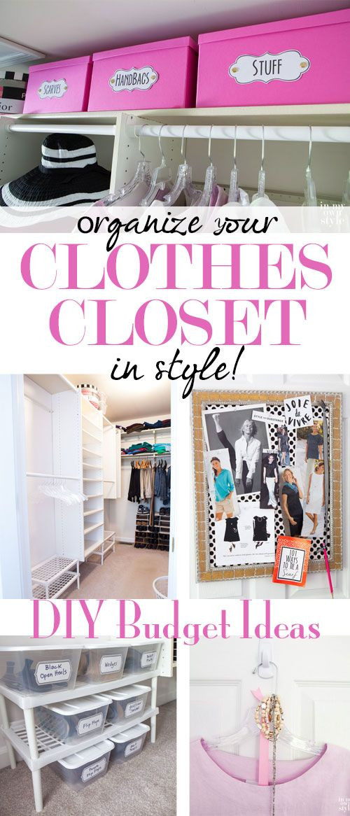 Best ideas about DIY Organize Closet . Save or Pin 1849 best Affordable DIY Decorating Ideas images on Pinterest Now.