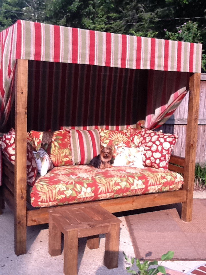 Best ideas about DIY Outdoor Daybed . Save or Pin Outdoor daybed Now.