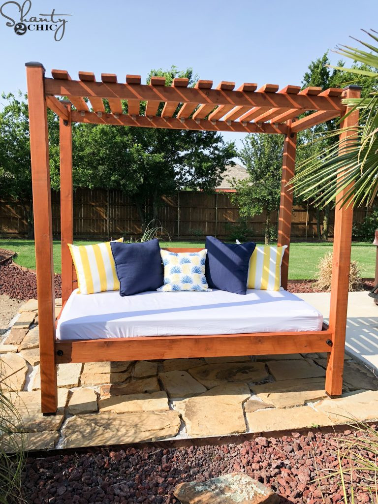 Best ideas about DIY Outdoor Daybed . Save or Pin DIY Outdoor Day Bed for About $200 Shanty 2 Chic Now.