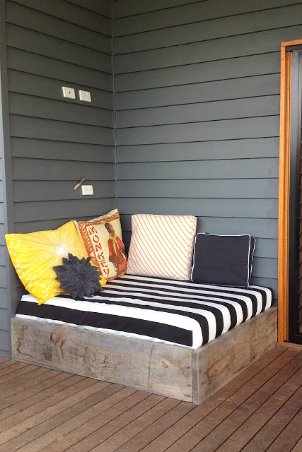 Best ideas about DIY Outdoor Daybed . Save or Pin Best Backyard DIY Projects Clean and Scentsible Now.