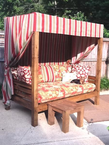Best ideas about DIY Outdoor Daybed . Save or Pin DIY Outdoor daybed I would love to make something like Now.