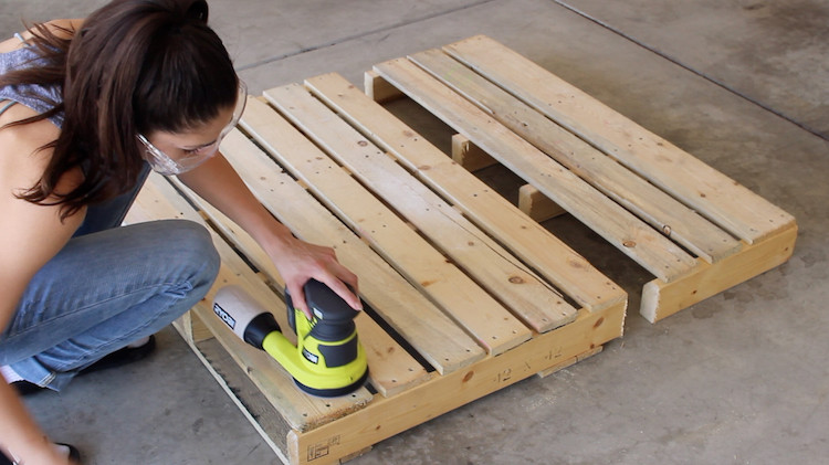 Best ideas about DIY Outdoor Dog Bed . Save or Pin DIY Pallet Dog Bed on Casters The Home Depot Blog Now.