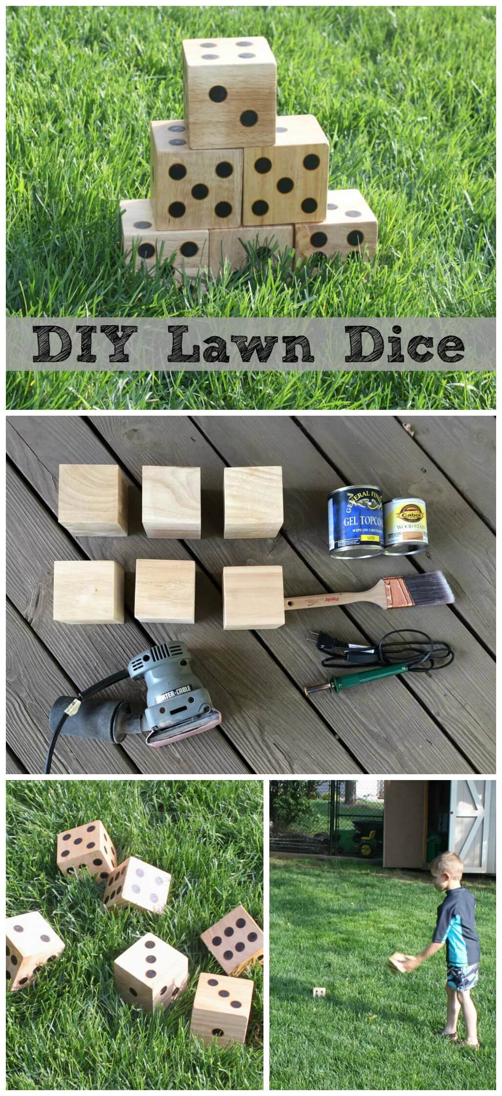 Best ideas about DIY Outdoor Games . Save or Pin DIY Wooden Yard Dice Sometimes Homemade Now.