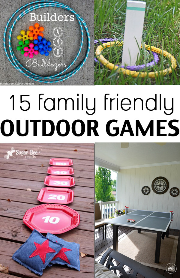 Best ideas about DIY Outdoor Games . Save or Pin 15 family friendly outdoor games Now.