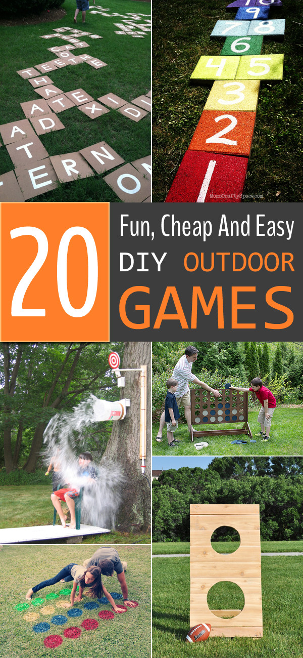 Best ideas about DIY Outdoor Games . Save or Pin 20 Fun Cheap And Easy DIY Outdoor Games For The Whole Family Now.