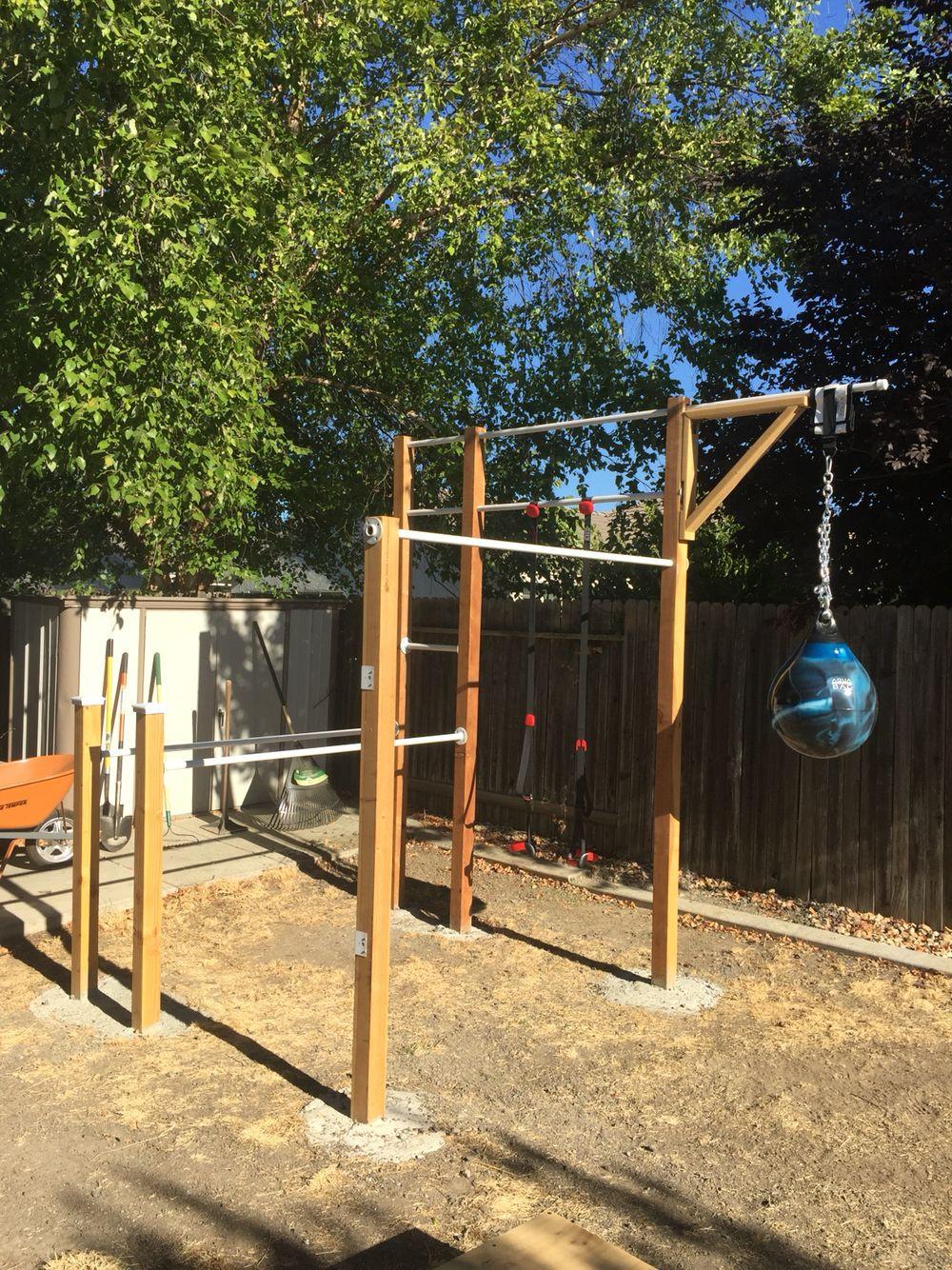 Best ideas about DIY Outdoor Gym . Save or Pin DIY backyard workout ideas Sporta laukums Now.