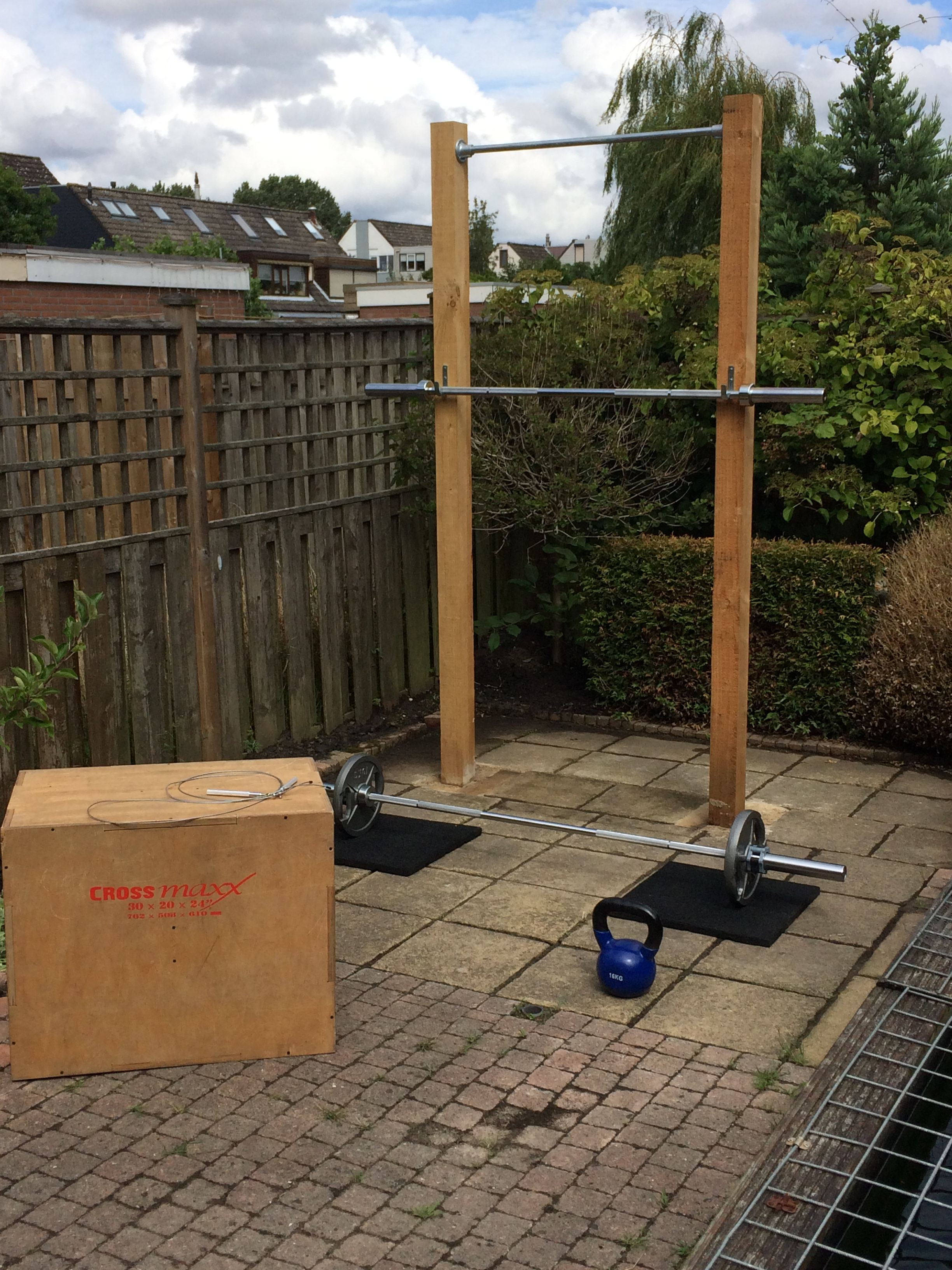Best ideas about DIY Outdoor Gym . Save or Pin Pull up & squat diy crossfit rig outdoor Now.