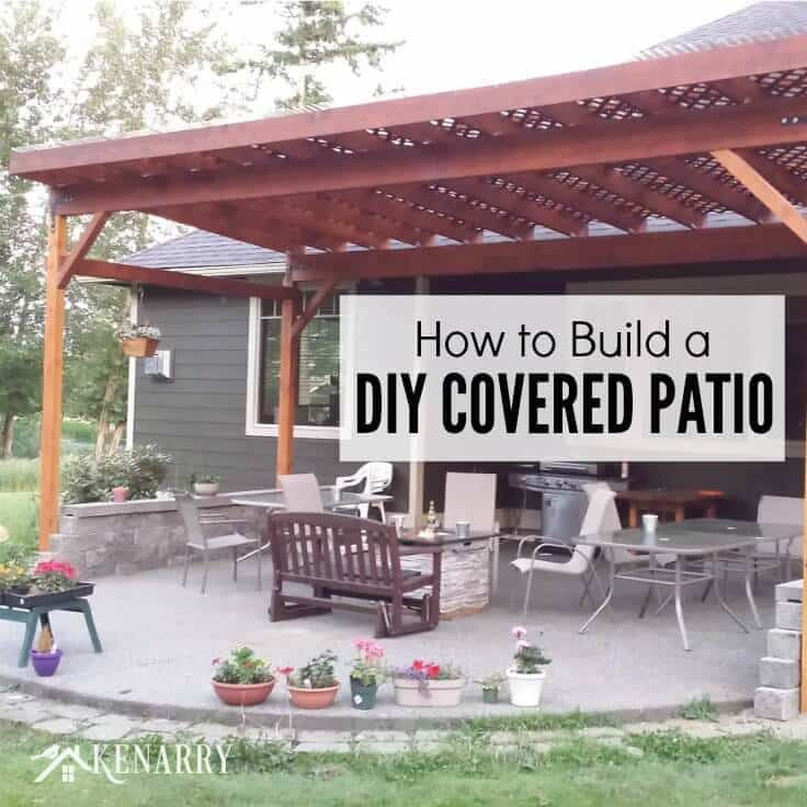 Best ideas about DIY Outdoor Patios . Save or Pin How to Build a DIY Covered Patio Now.
