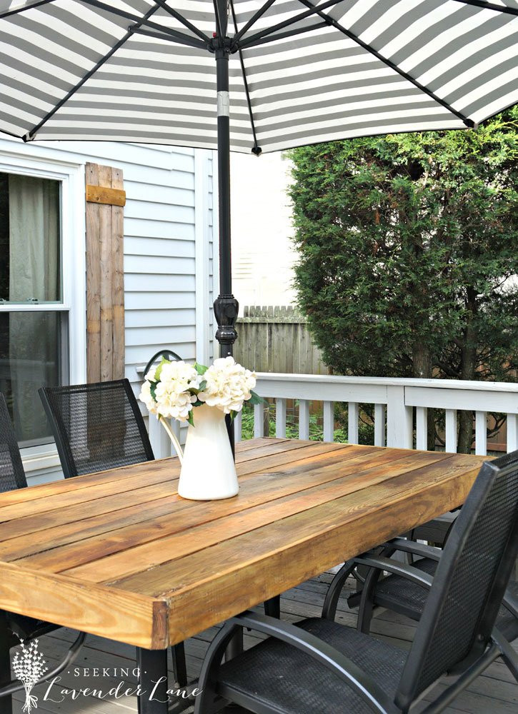 Best ideas about DIY Outdoor Patios . Save or Pin DIY Patio Table with Umbrella DIY Patio Table 15 Easy Now.