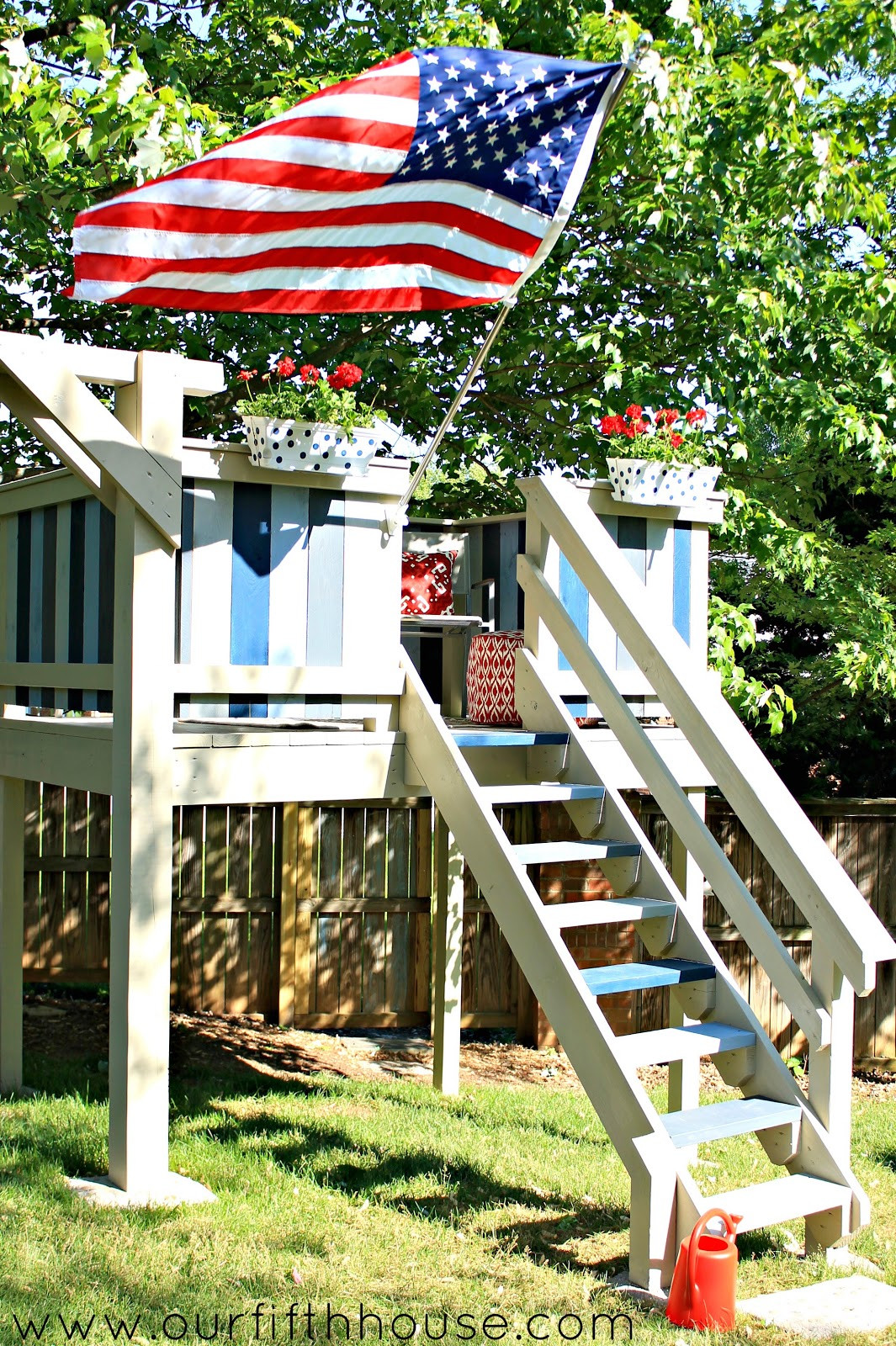 Best ideas about DIY Outdoor Playhouses . Save or Pin DIY Swing Set & Playhouse Our Fifth House Now.