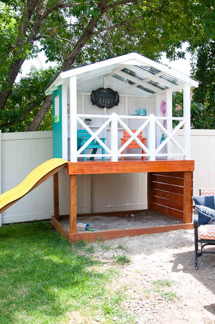 Best ideas about DIY Outdoor Playhouses . Save or Pin Our DIY Playhouse The Roof a Houseful of Handmade Now.