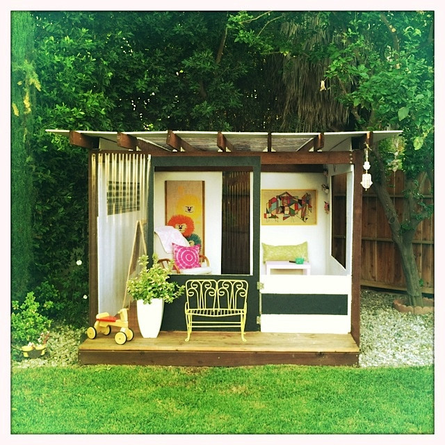 Best ideas about DIY Outdoor Playhouses . Save or Pin Backyard Playhouse Diy PDF Woodworking Now.
