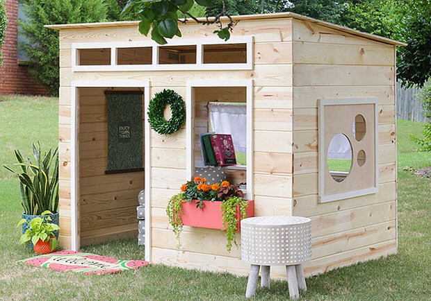 Best ideas about DIY Outdoor Playhouses . Save or Pin How to Build a Backyard Playhouse Now.