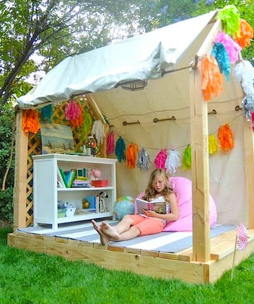 Best ideas about DIY Outdoor Playhouses . Save or Pin Amazing Pallet Playhouse for Your Kids Now.