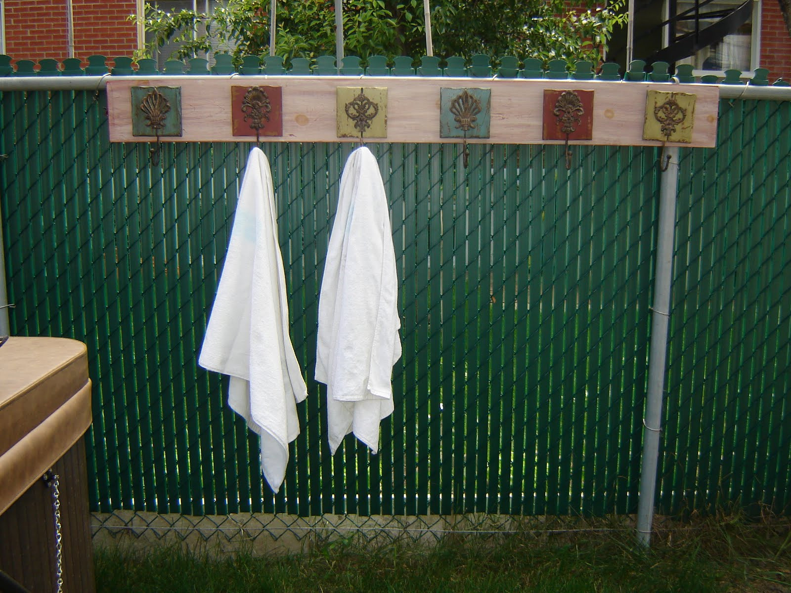 Best ideas about DIY Outdoor Towel Rack . Save or Pin Dream it it yle it DIY outdoor towel rack Now.