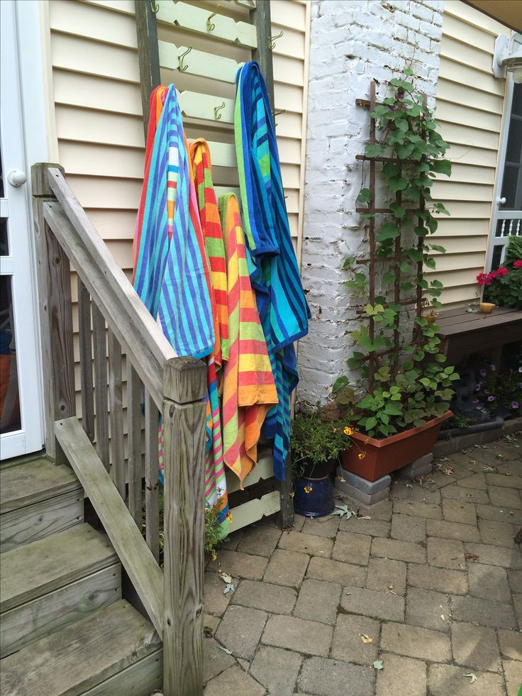 Best ideas about DIY Outdoor Towel Rack . Save or Pin Best 25 Outdoor Towel Racks ideas on Pinterest Now.