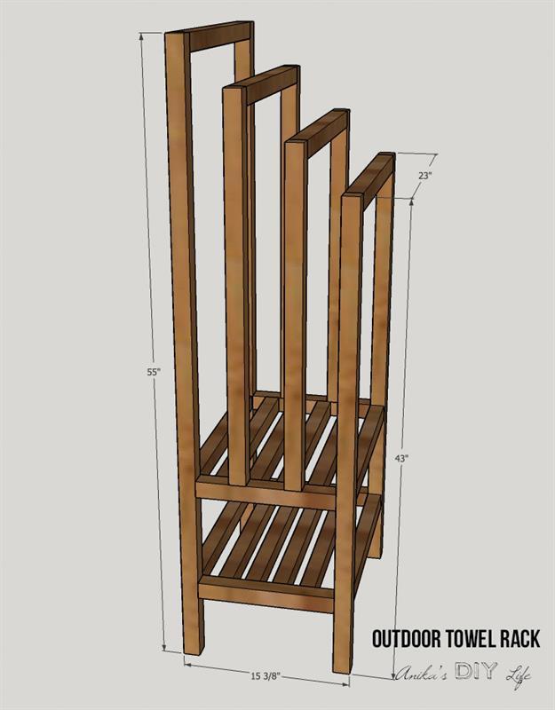 Best ideas about DIY Outdoor Towel Rack . Save or Pin DIY Freestanding Outdoor Towel Rack buildsomething Now.