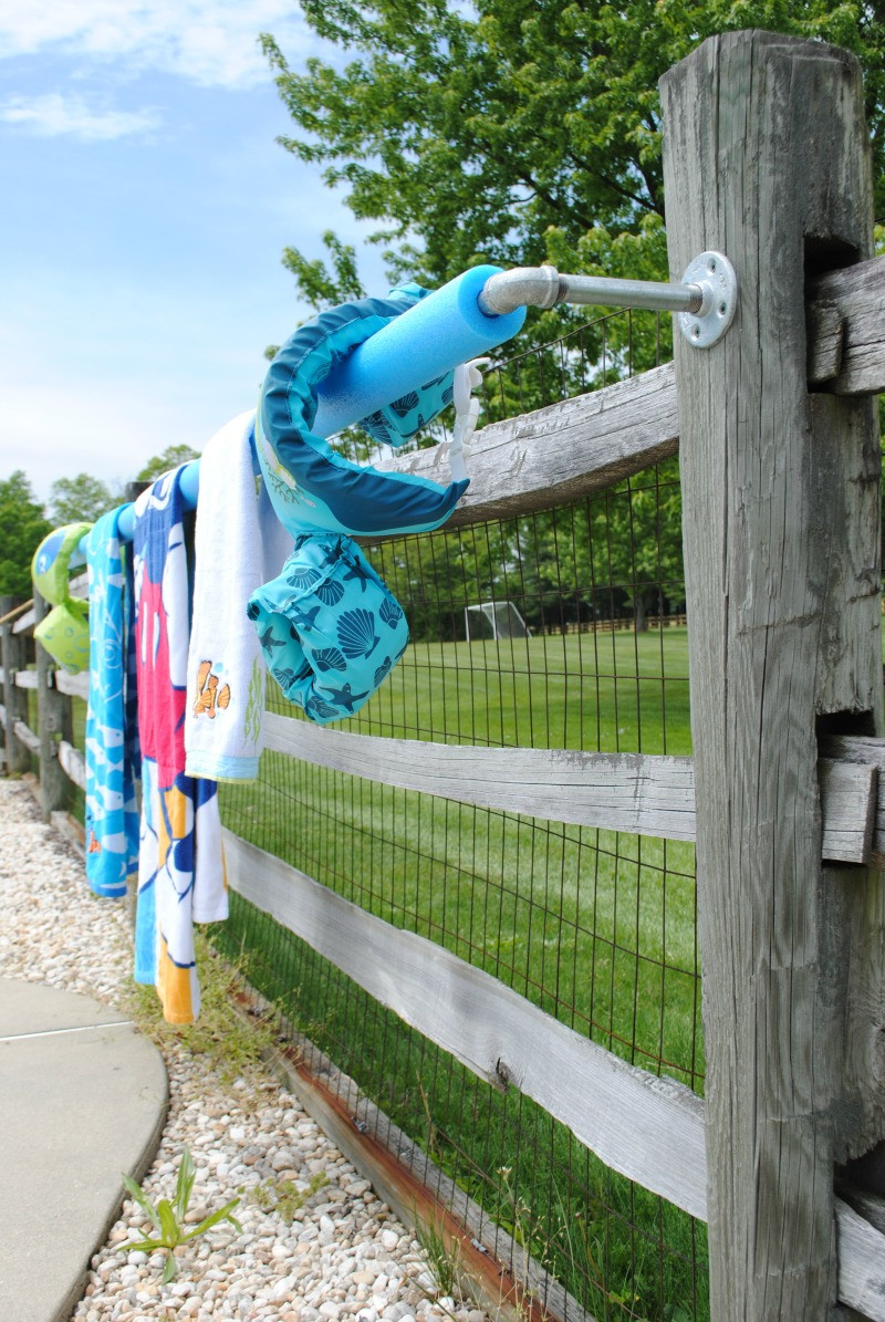 Best ideas about DIY Outdoor Towel Rack . Save or Pin DIY Outdoor Towel Rack Upright and Caffeinated Now.