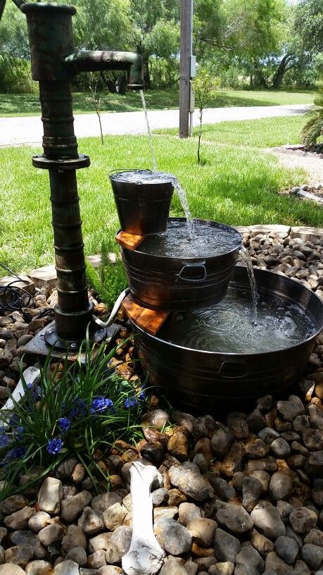 Best ideas about DIY Outdoor Water Fountains . Save or Pin Galvanized Water Trough Fountain DIY with antique Water Now.