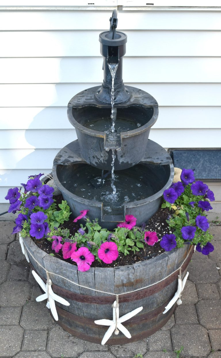 Best ideas about DIY Outdoor Water Fountains . Save or Pin DIY water fountain improving a store bought one with a Now.
