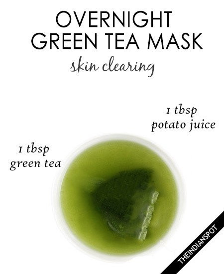 Best ideas about DIY Overnight Face Mask . Save or Pin Overnight green tea mask for clear skin Now.