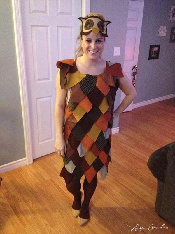 Best ideas about DIY Owl Costumes . Save or Pin Halloween DIY Patchwork Owl Costume Lauren Conrad Now.