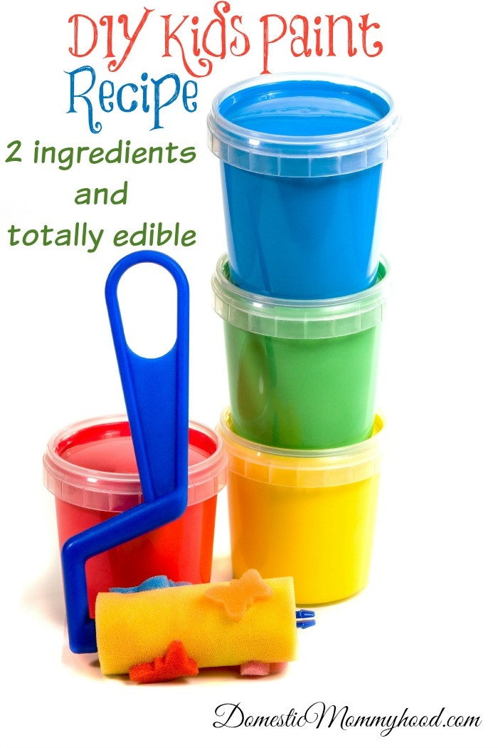 Best ideas about DIY Paint For Kids . Save or Pin 2 Ingre nt Edible DIY Kids Paint Recipe Domestic Mommyhood Now.