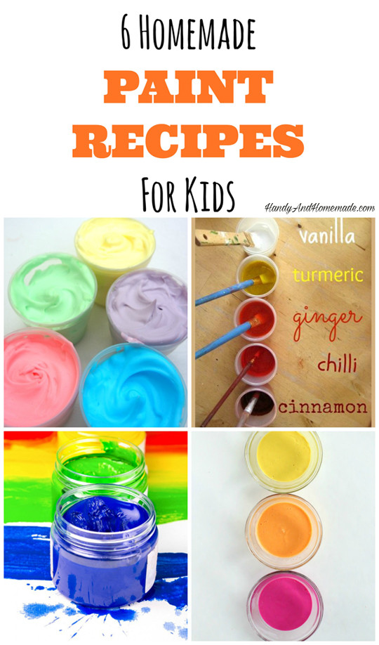 Best ideas about DIY Paint For Kids . Save or Pin Homemade Paint Recipes For Kids 6 DIY Toddler Paints Now.