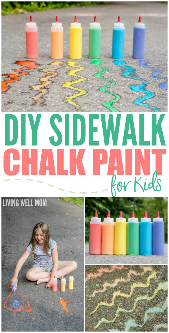Best ideas about DIY Paint For Kids . Save or Pin DIY Sidewalk Chalk Paint for Kids in Less than 5 Minutes Now.