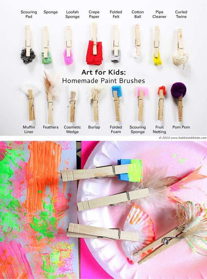Best ideas about DIY Paint For Kids . Save or Pin STEAM Challenge For Kids Make DIY Paint Brushes Babble Now.