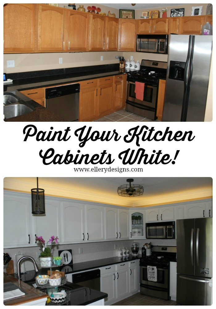 Best ideas about DIY Paint Kitchen Cabinets White . Save or Pin Our DIY Kitchen Remodel Painting Your Cabinets White Now.