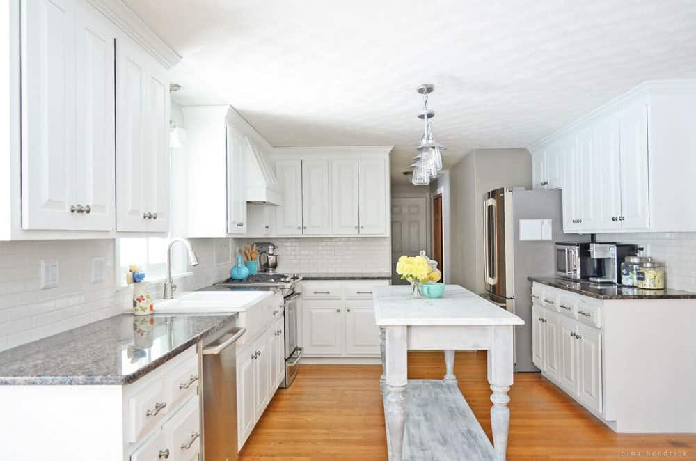 Best ideas about DIY Paint Kitchen Cabinets White . Save or Pin DIY White Painted Kitchen Cabinets Reveal Now.