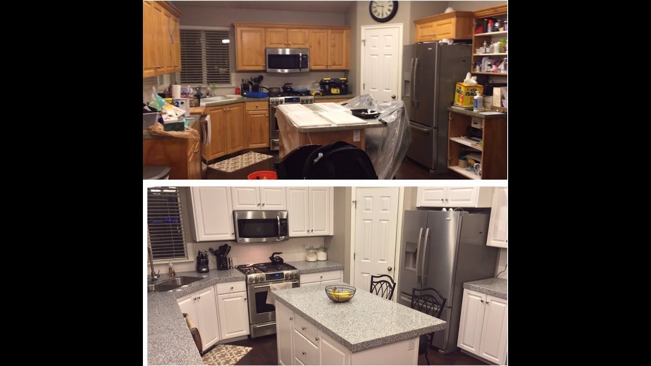 Best ideas about DIY Paint Kitchen Cabinets White . Save or Pin DIY PAINTING KITCHEN CABINETS WHITE Now.