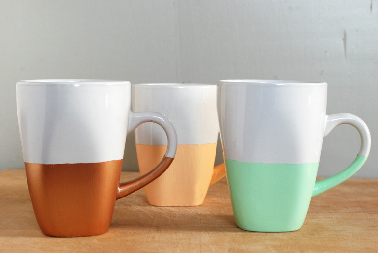 Best ideas about DIY Painted Mugs . Save or Pin DIY Paint Dipped Mugs The Merrythought Now.