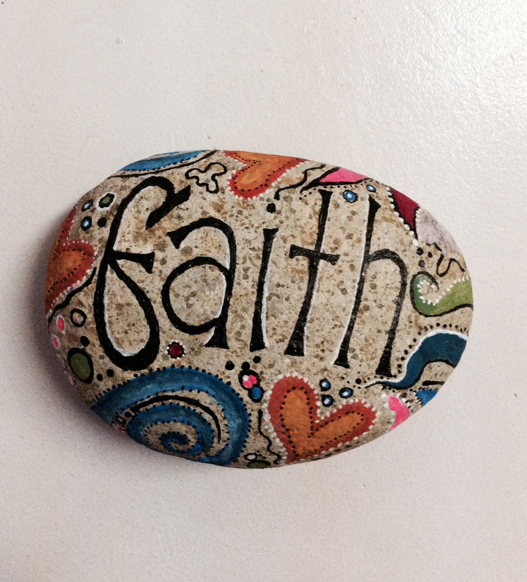 Best ideas about DIY Painted Rocks . Save or Pin DIY painted rock beach faith The Pooja Project Now.