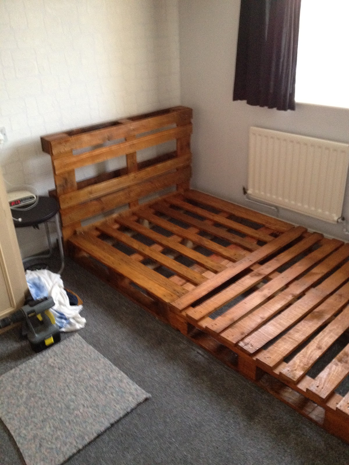 Best ideas about DIY Pallet Bed Frame . Save or Pin notinabox DIY Pallet Bed Now.
