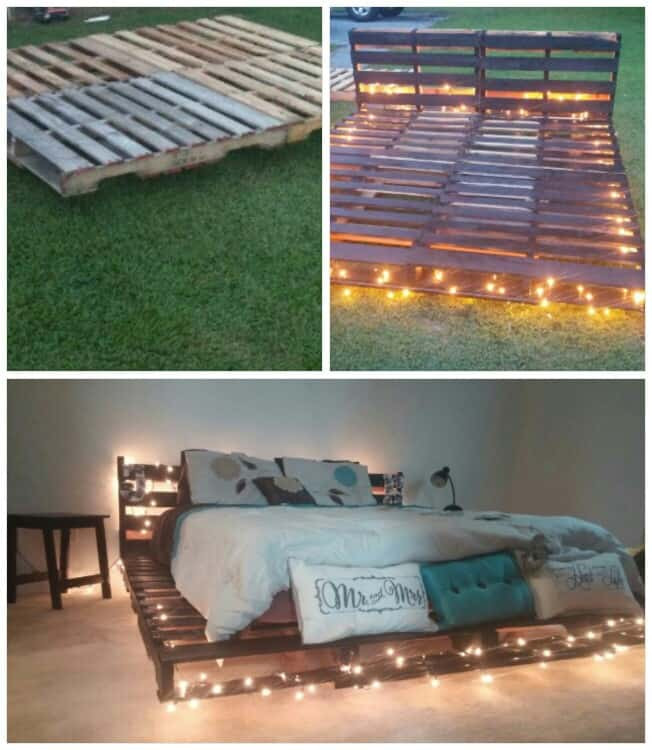 Best ideas about DIY Pallet Bed Frame . Save or Pin Top 62 Recycled Pallet Bed Frames DIY Pallet Collection Now.