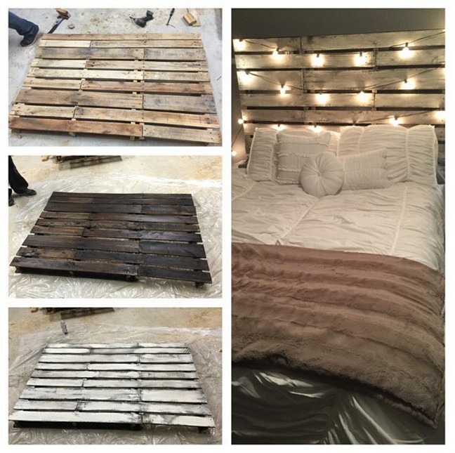 Best ideas about DIY Pallet Bed Frame . Save or Pin DIY Wood Pallet Headboard Crafty Morning Now.