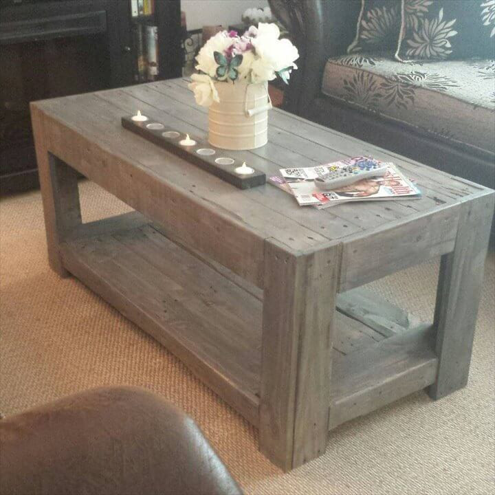 Best ideas about DIY Pallet Coffee Table . Save or Pin DIY Wood Pallet Coffee Table Now.