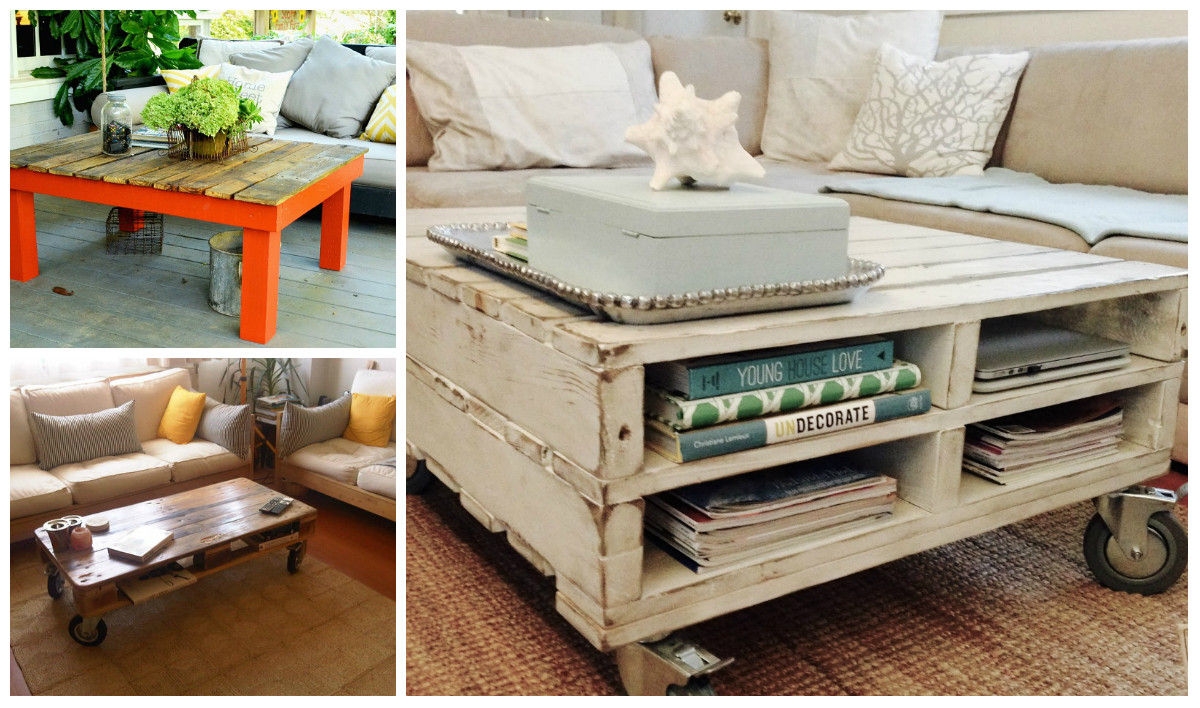 Best ideas about DIY Pallet Coffee Table . Save or Pin 5 Diy Wooden Pallet Coffee Tables Now.