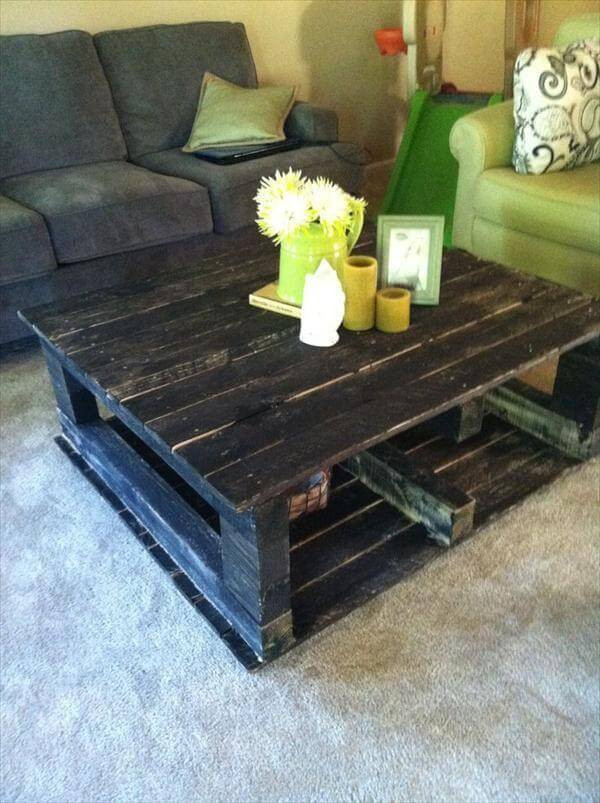 Best ideas about DIY Pallet Coffee Table . Save or Pin 12 DIY Antique Wood Pallet Coffee Table Ideas Now.