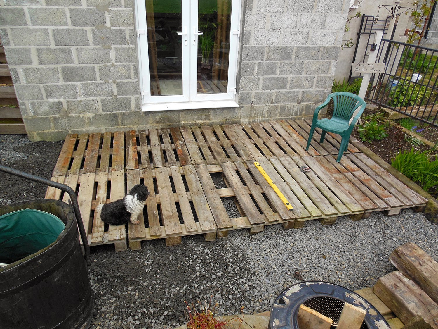 Best ideas about DIY Pallet Deck . Save or Pin The Tenacious Gardener DIY pallet wood decking Now.