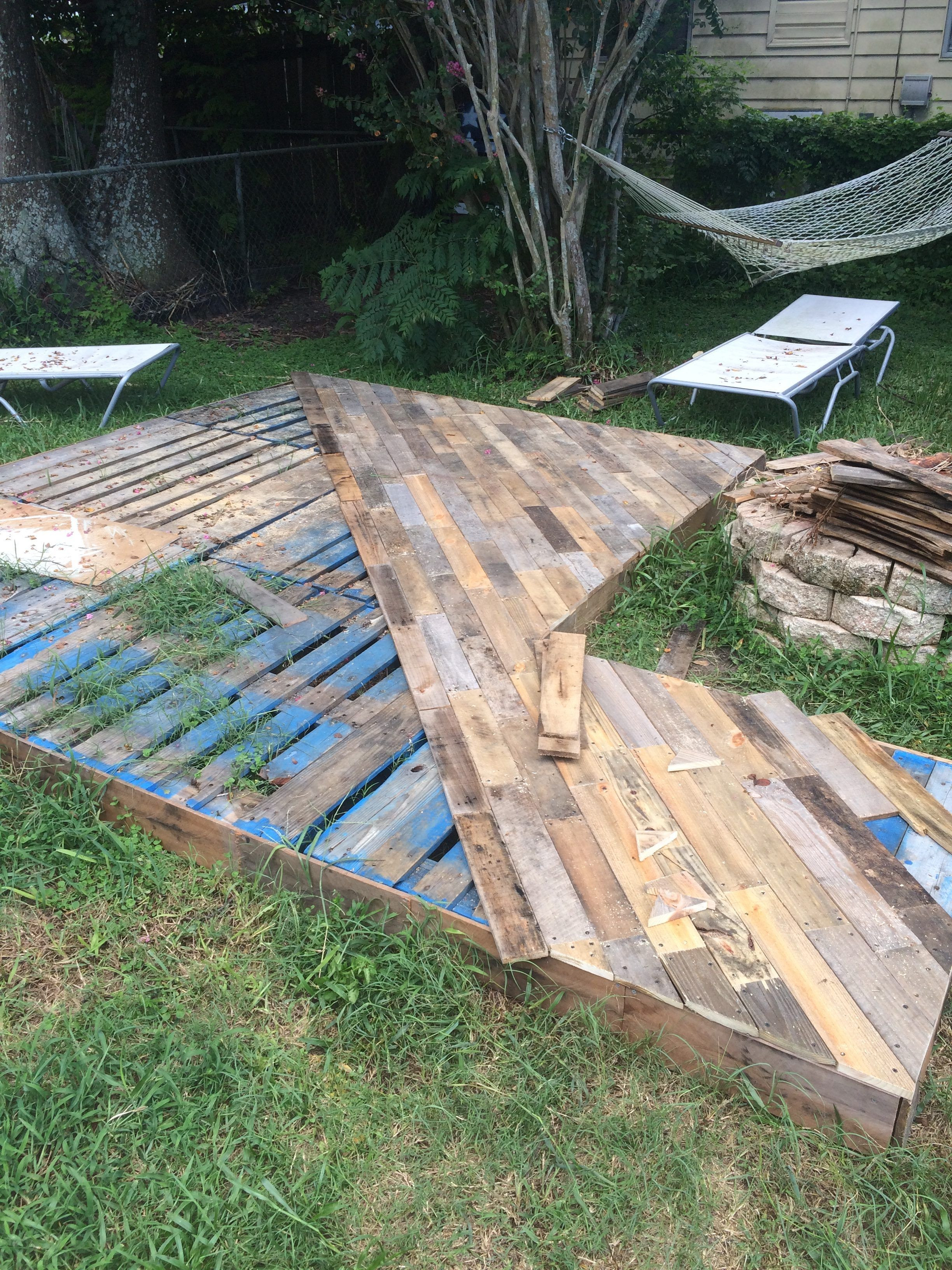 Best ideas about DIY Pallet Deck . Save or Pin Patio Deck Out 25 Wooden Pallets Now.