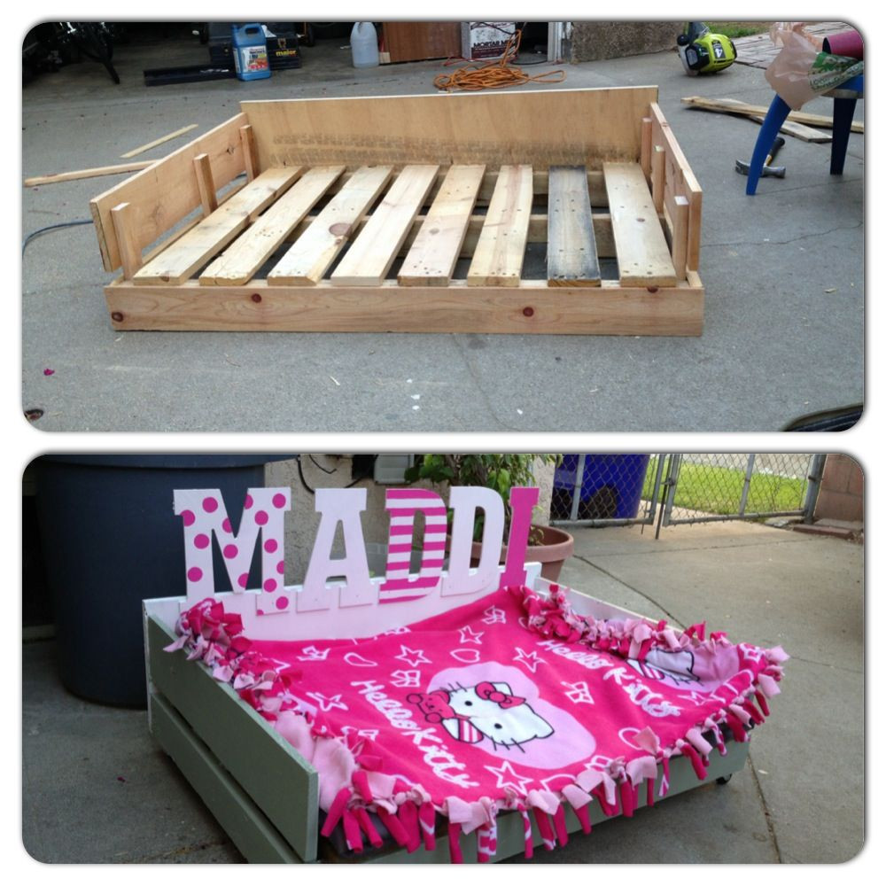 Best ideas about DIY Pallet Dog Beds . Save or Pin DIY Pallet Dog Bed lots of labor but pleted under 20 Now.