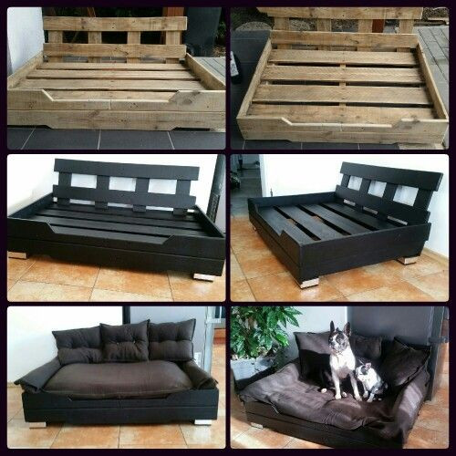 Best ideas about DIY Pallet Dog Beds . Save or Pin DIY Pallet dog bed modern black style Now.