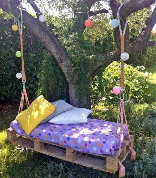 Best ideas about DIY Pallet Swing Bed . Save or Pin 33 Pallet Swings – Chair Bed and Bench Seating Plans Now.
